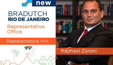 Raphael Zaroni is Braducht's new representative in Rio